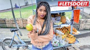 LETSDOEIT – Ebony Latina Tricked Into Sex By Horny Students