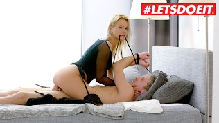 LETSDOEIT – European Blonde Cherry Kiss Bonds and Fucks Lutro's Big Cock