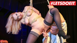 LETSDOEIT – German Blonde Slave Gets Tied And Tortured by Old Man