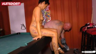 LETSDOEIT – German HouseWife Cheats and Gets Fucked on the Pool Table