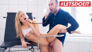 LETSDOEIT – Hot AMERICAN Babe Blows and Bangs GYNECOLOGIST Doctor