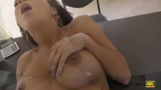 LOAN4K. Adorable girl pays with sex for her rent and gets pleasure HD Porn Video