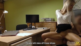 LOAN4K. Cutie has to spread legs in office for solving her problems HD Porn Video
