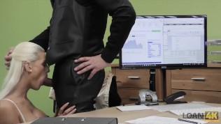 LOAN4K. Nice model in lingerie accepts sex for cash in loan office HD Porn Video
