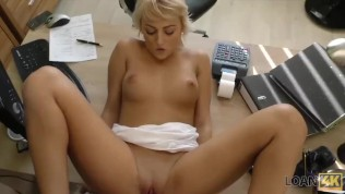 LOAN4K. Passionatre fucking on the table in office of loan manager HD Porn Video