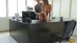 LOAN4K. Petite student girl has no job but wants to earn some cash HD Porn Video