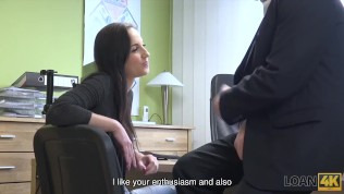 LOAN4K. She needs money for own tattoo saloon and she is creative HD Porn Video