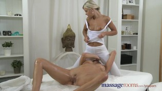 Massage Rooms Czech beauty has her hole filled with petite lesbian fingers Free Porn Video