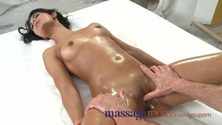 Massage Rooms Petite dark skinned beauty has multiple orgasms before facial Free Porn Video
