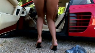 Masturbating on her car – DDF Productions