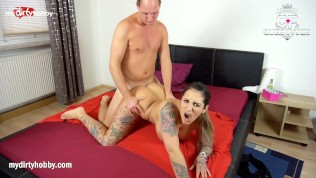 My Dirty Hobby – Busty brunette rides hard cock