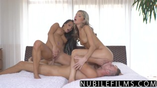 NubileFilms – Passionate Threeway Makes BFF Squirt