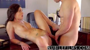 NubileFilms – Sexy Brunette Twerkin On Dick