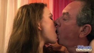 Old and Young Grandpa Fucks Teen Babysitter Fingers Virgin Pussy Blowjob