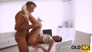 OLD4K. Hot sex is how old boss and his worker relax after workday HD Porn Video
