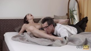 OLD4K. Sex with attractive wife motivated old man to return home HD Porn Video