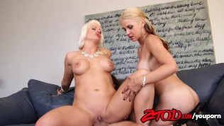 Sarah Vendella and Holly Heart love a cougar sandwich Free Porn Video