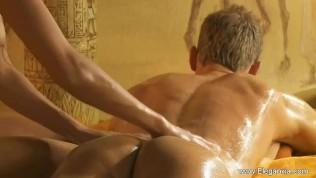 Serious Handjob Massage From Golden Blonde
