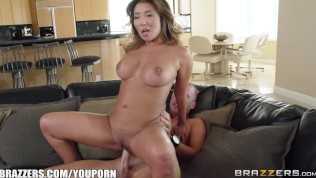 Sexy Asian Milf Akira Lane needs some cheering up – Brazzers HD Porn Video
