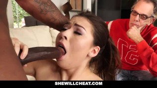 SheWillCheat- Cuckold Hubby Watches Hot Wife Fuck BBC