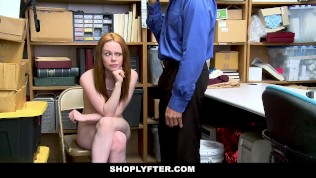 ShopLyfter – Redhead Teen Gets Railed by LP Officer