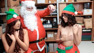ShopLyfter – Two Elves Get Plowed By Santa After Stealing