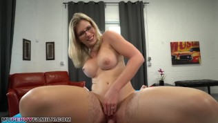 Slutty Mom Cory Chase Gives Step Son a Helping Hand….. and Pussy!