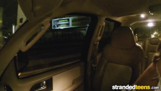 StrandedTeens – Blonde teen gets fucked in the back seat
