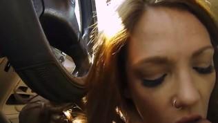 StrandedTeens – Freckle face teen loves car sex