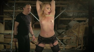 Teen is tied up and fucked gets punished spanked and enjoys BDSM sex