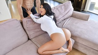 TeenCurves – Thick Brunette Cock Rides and Gets Titty Fucked