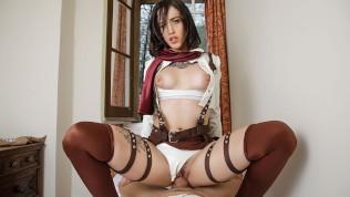 VRCosplayX.com Lilyan Red As Mikasa Attacks Your Titanic Dick HD Porn Video