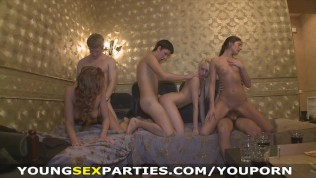 Young Sex Parties – Winter break sex party in a dormitory HD Porn Video