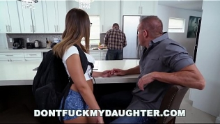 DON'T FUCK MY DAUGHTER – Slutty Teen Sneaking Around With Daddy's Friend