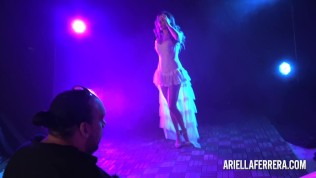 Behind the scenes glamour shoot with Ariella Ferrera Free Porn Video