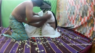 White saree Honeymoon part 1 Free Porn Video