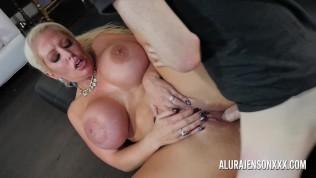 Big tit pornstar Alura Jenson fucks a hung young stud Free Porn Video