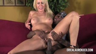 Blonde MILF Takes On Young Black Stud Free Porn Video