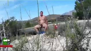 A spy cam records their fucking session in the middle of the field ADR0574