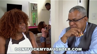 DON'T FUCK MY DAUGHTER – Black Teen Kendall Woods Fucks Her Father's Friend, Jax Slayher