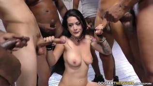 Katrina Jade sucks many black cocks