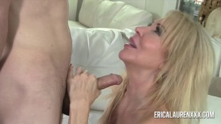 Naughty MILF Erica Lauren fucks a hung younger man Free Porn Video