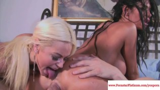 Nikita Von James and Angelina facials Free Porn Video
