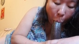 Asian Beauty Milf Blowjob Mid day
