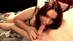 Hot Milf Blowjob With Nipple Play & Cum