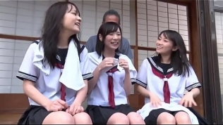 Mix Of Petite Japanese Teens In Schoolgirl Uniform With Tiny Tits Getting Fucked