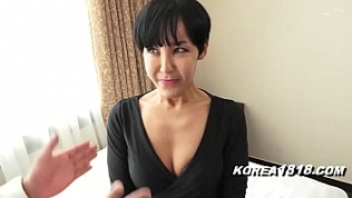 Ugly Korean GRANDMA is a horny slut and gets fucked by Japanese weirdo