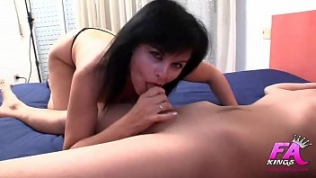 She deflowers her son's friend, teaches him to fuck an ass, and… HE CUMS UP TO 4 TIMES!!!