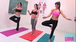 Kendra Lust teaches yoga