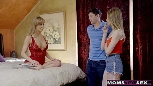 MomsTeachSex – Busty MILF Gets Hot m.'s Day Threesome! S8:E4